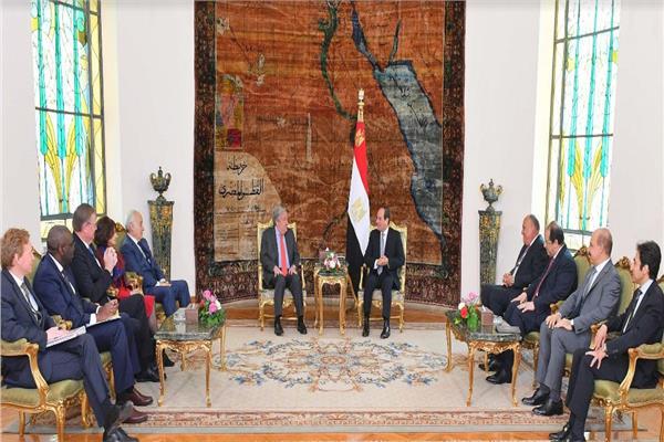 الرئيس السيسي يؤكد لـ « جوتيريش» ثوابت مصر للحفاظ على وحدة الدول ودعم مؤسساتها