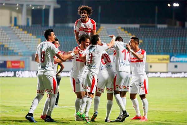 الزمالك يفوز على الجونة فى مباراة مثيرة بالدوري المصري