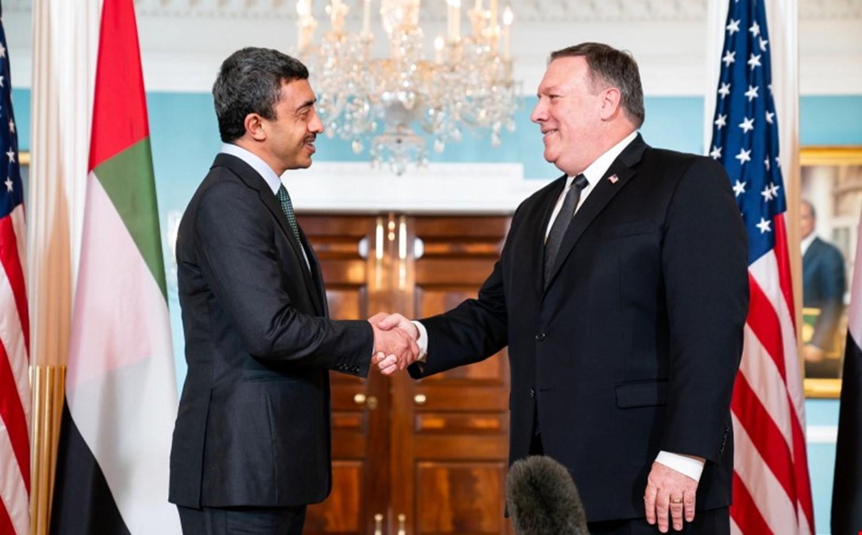 بومبيو يبحث مع وزير الخارجية الإماراتي في واشنطن الأوضاع في الشرق الأوسط