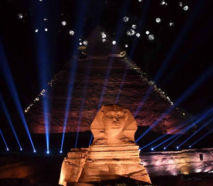 مصر تكتب صفحة مجيدة بتاريخ الساحرة المستديرة في الأهرامات