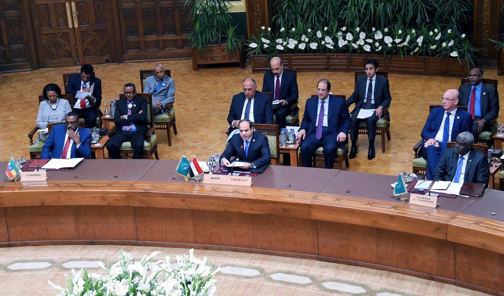 نص كلمة الرئيس السيسي بجلسة افتتاح اجتماع القمة للشركاء الإقليميين للسودان