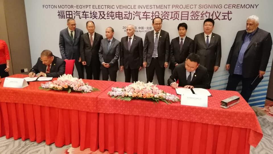 صور | العصار ونصار يوقعان اتفاقية مع الصين للتصنيع المشترك للأوتوبيسات الكهربائية