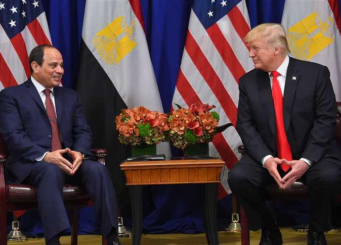 الرئيس السيسي يبحث مع ترامب تطورات القضية الليبية ومستجدات سد النهضة