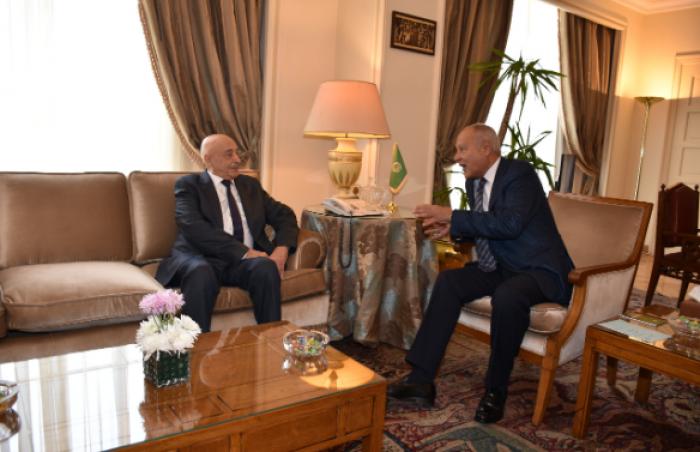 أبو الغيط يستقبل عقيلة صالح لبحث آخر المستجدات على الساحة الليبية