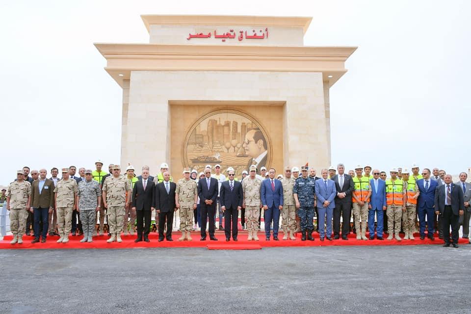 افتتاح الرئيس السيسي أنفاق قناة السويس تتصدر عناوين الصحف المصرية