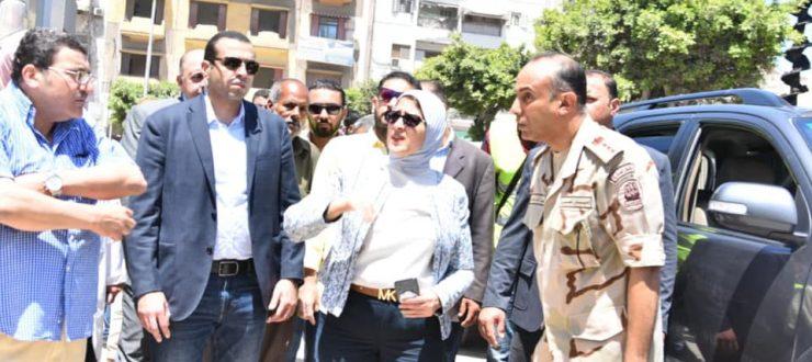 صور | وزيرة الصحة تعلن الانتهاء من مبنى العيادات الخارجي بمستشفى بورسعيد العام