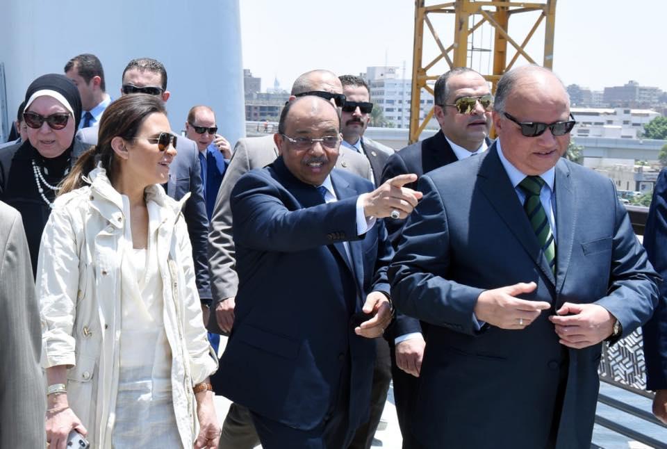 صور | وزيرا الاستثمار والتنمية المحلية  يتفقدان محور روض الفرج