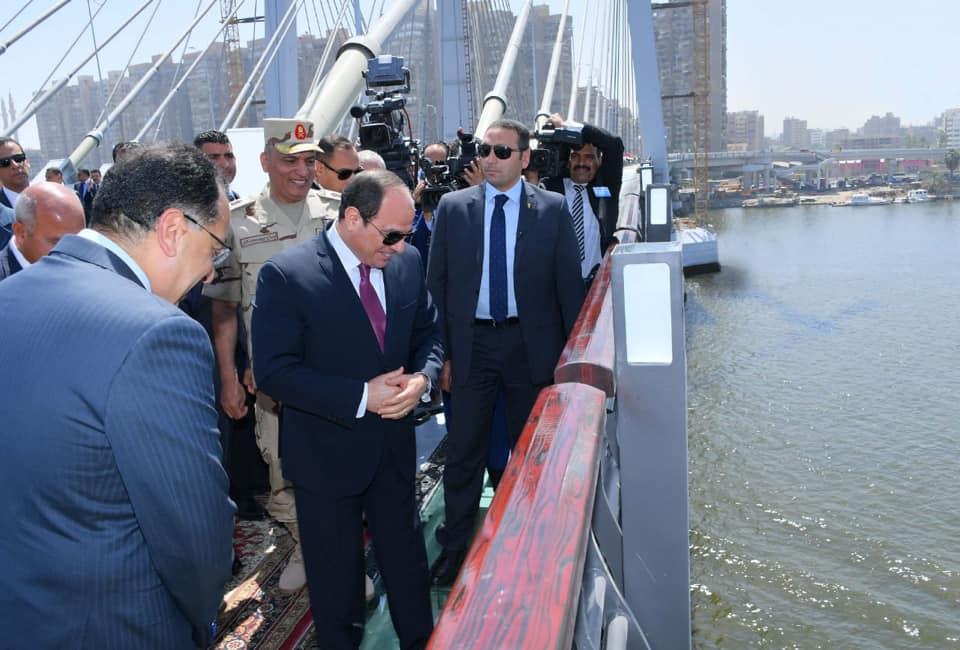 افتتاح الرئيس السيسي لمحور روض الفرج وكوبرى تحيا مصر يتصدر عناوين الصحف