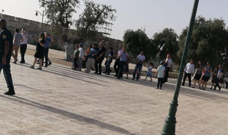 عشرات المستوطنين يقتحمون الأقصى بإشراف شرطة الاحتلال