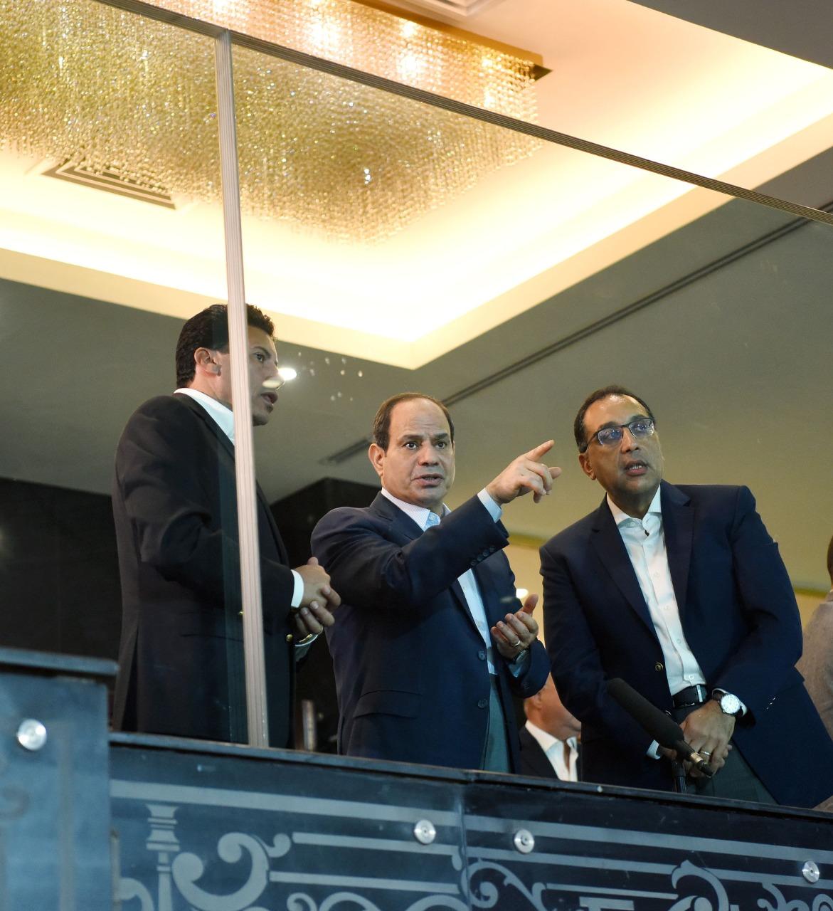 السيسي يتفقد إستاد القاهرة3