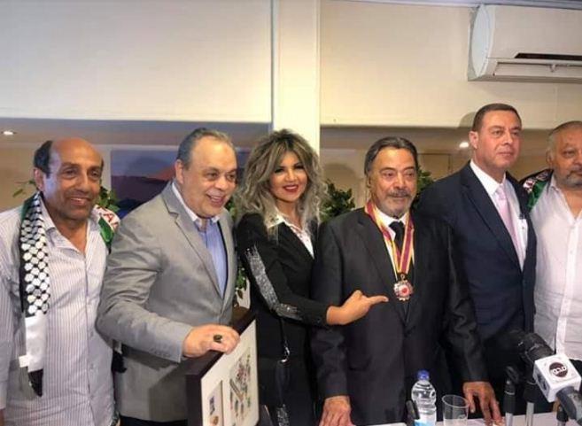 صور| سفارة فلسطين بالقاهرة تكرم الفنان يوسف شعبان عن مجمل أعماله الفنية
