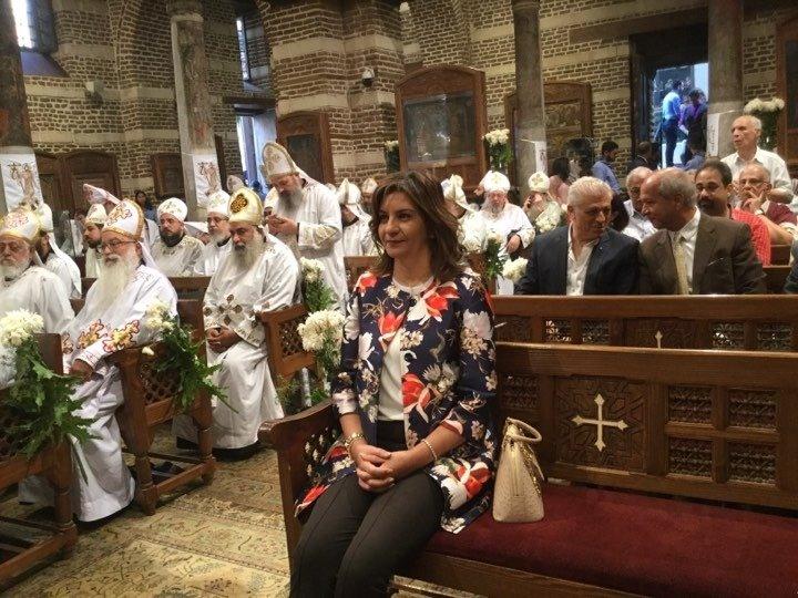 صور | وزيرة الهجرة تشارك في احتفال إحياء ذكرى دخول العائلة المقدسة إلى مصر