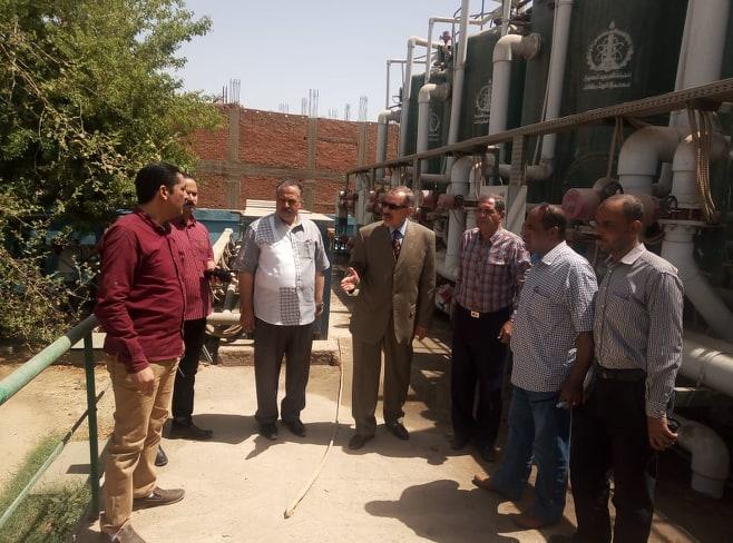 صور | محافظ أسيوط يتفقد أعمال الإصلاح بطلمبة مياه محطة الارتوازي