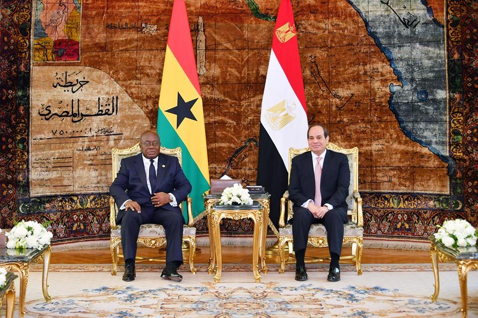 صور | الرئيس السيسي يستقبل نظيرة الغيني لبحث تعزيز العمل الأفريقي المشترك