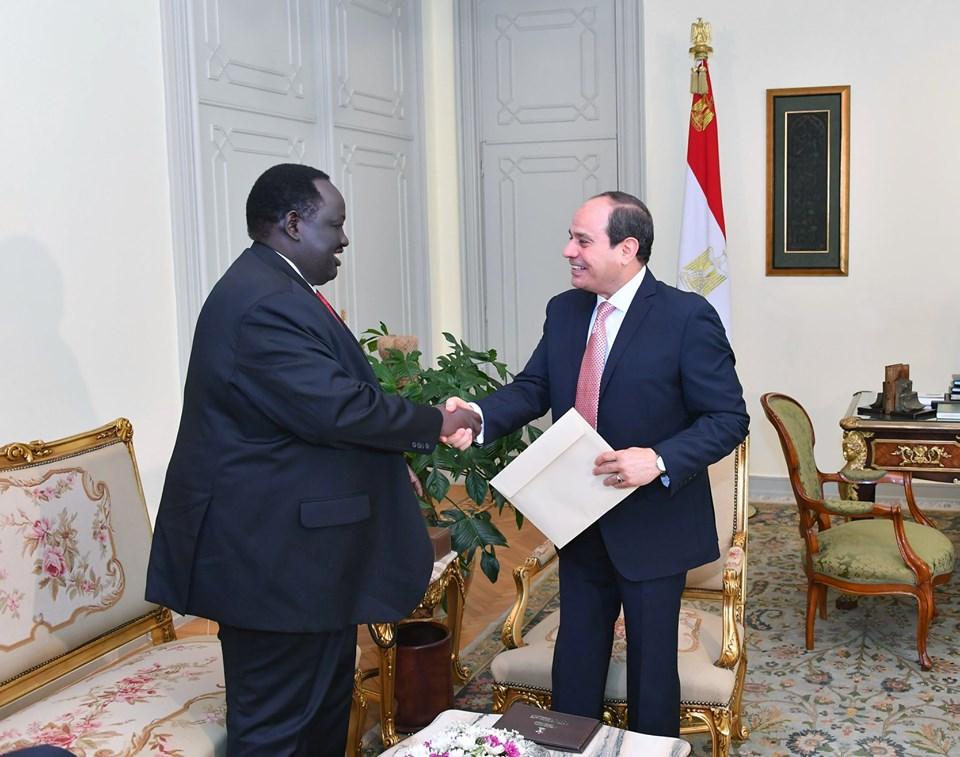 صور | الرئيس السيسي : حريصون على تقديم الدعم للأشقاء في جنوب السودان
