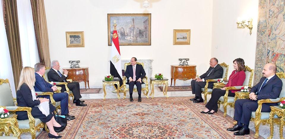 صور| الرئيس السيسي : مصر مهتمة بتعزيز علاقاتها بالاتحاد الأوروبي في مختلف المجالات