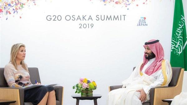 ولي العهد السعودي يبحث مع ملكة هولندا سبل تعزيز التعاون الثنائي
