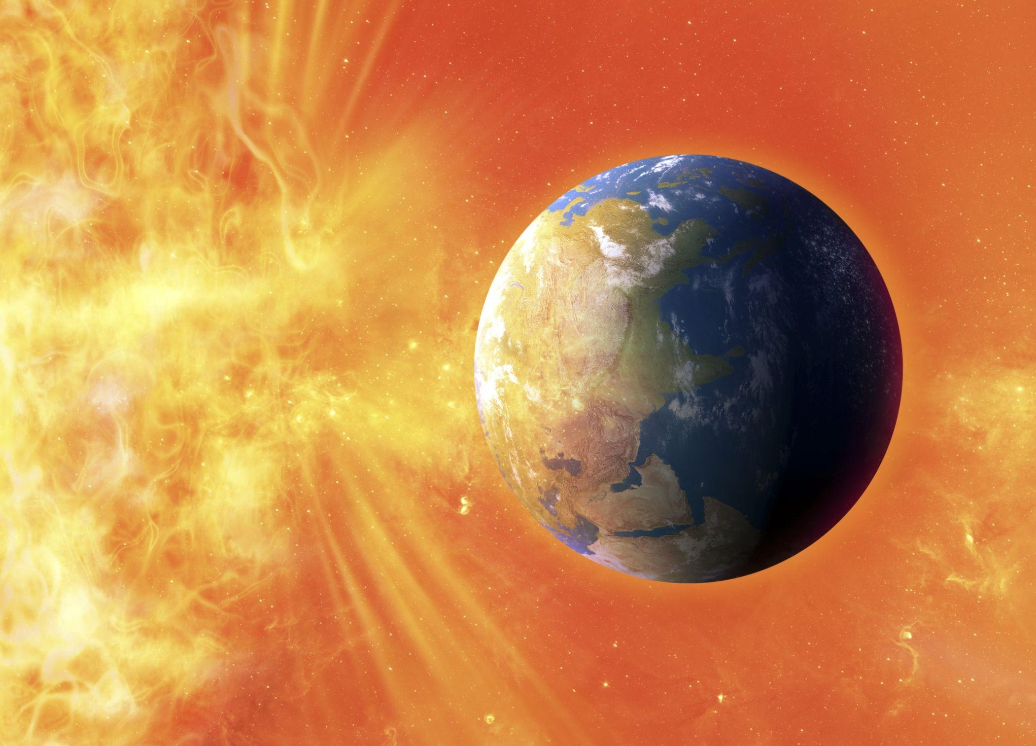 """عاصفة شمسية تضرب الأرض اليوم.. تؤثر على الأقمار الصناعية ونظام تحديد المواقع """" GPS """""""