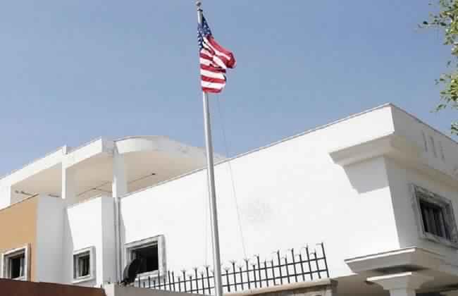 حريق في مقر السفارة الأمريكية بطرابلس