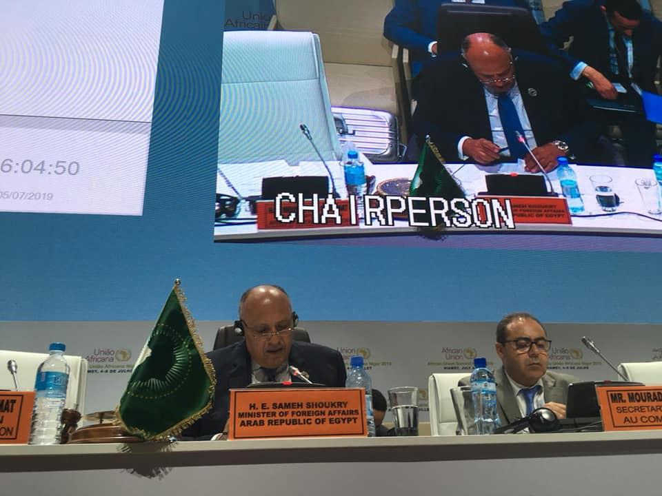 وزير الخارجية يترأس اجتماعات اليوم الثاني للمجلس التنفيذي للاتحاد الأفريقي