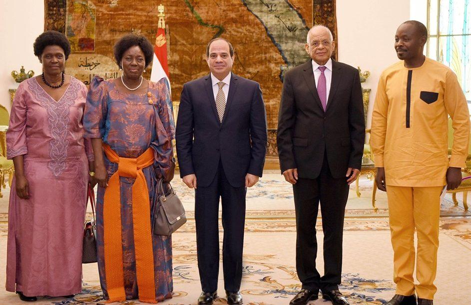 الرئيس السيسي يؤكد لرئيسة البرلمان الأوغندي دعم مصر للمسار التنموى بحوض النيل