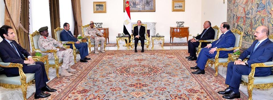 الرئيس السيسي : نساند إرادة الشعب السوداني في صياغة مستقبل بلاده