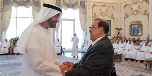 ولي عهد أبوظبي يبحث مع رئيس النواب اليمني تطورات الأوضاع