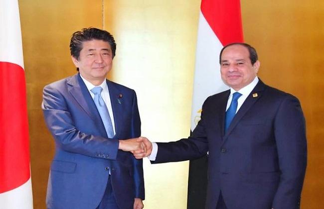 صور| الرئيس السيسي يجتمع مع رئيس وزراء اليابان على هامش « قمة التيكاد»