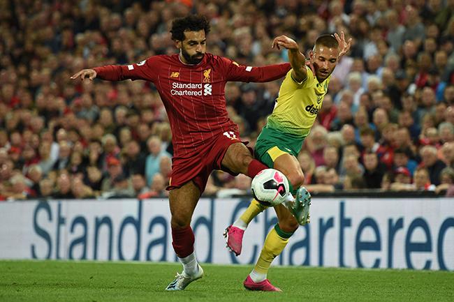 صور| « صلاح» يقود ليفربول للفوز برباعية على نوريتش سيتي في أولى مباريات الدوري الإنجليزي
