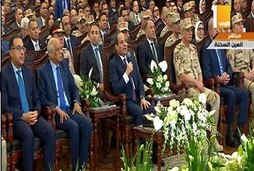 """الرئيس السيسى يوجه تحذير شديد اللهجة لـ""""أهل الشر والمخربين"""""""