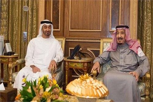 خادم الحرمين وولي عهد أبوظبي يبحثان الوضع في اليمن