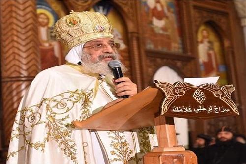 البابا تواضروس الثاني يلقي عظته الأسبوعية من الكنيسة المرقسية بالإسكندرية