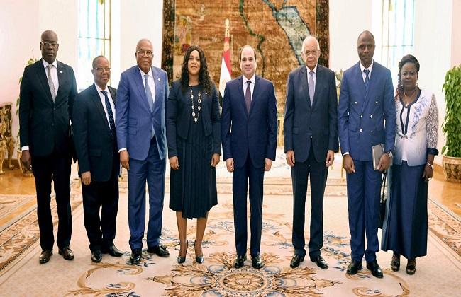 الرئيس السيسي يستقبل رئيسة البرلمان في توجو