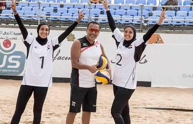 سيدات مصر للكرة الطائرة الشاطئية يتوجن بذهبية دورة الألعاب الإفريقية