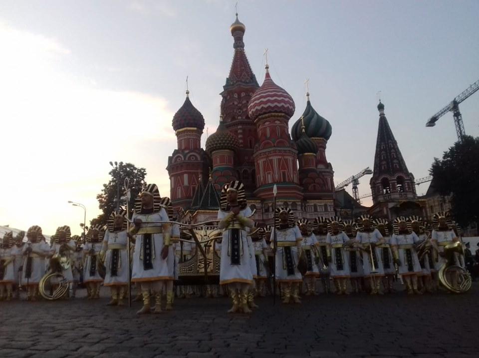 الموسيقات العسكرية المصرية تشارك في المهرجان الدولي بروسيا