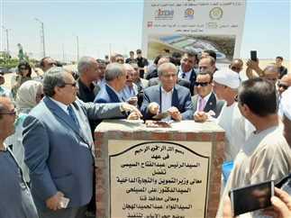 وزير التموين يضع حجر أساس المنطقة اللوجيستية بقنا