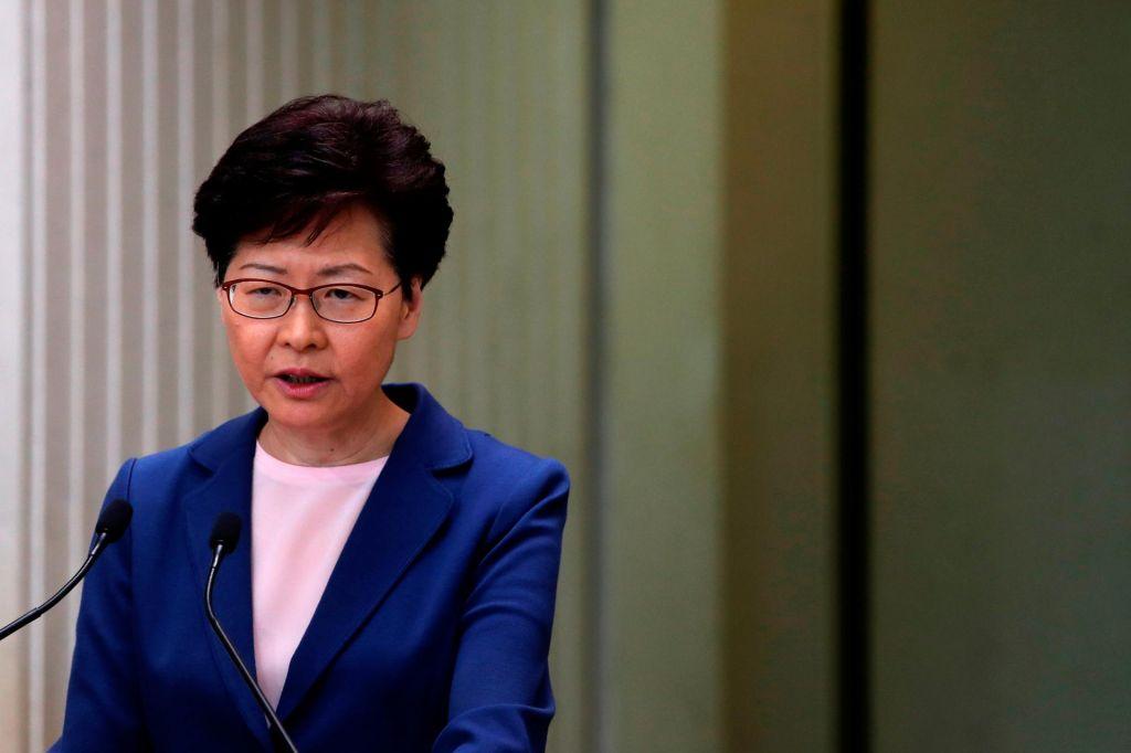 رئيسة هونج كونج تدعو لوضع نهاية للعنف واستعادة الاستقرار والتنمية بالمنطقة