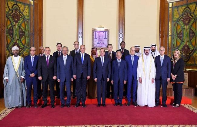 الرئيس السيسي يستقبل أعضاء مجلس محافظي المصارف المركزية ومؤسسات النقد العربية ومسئولي صندوق النقد العربي