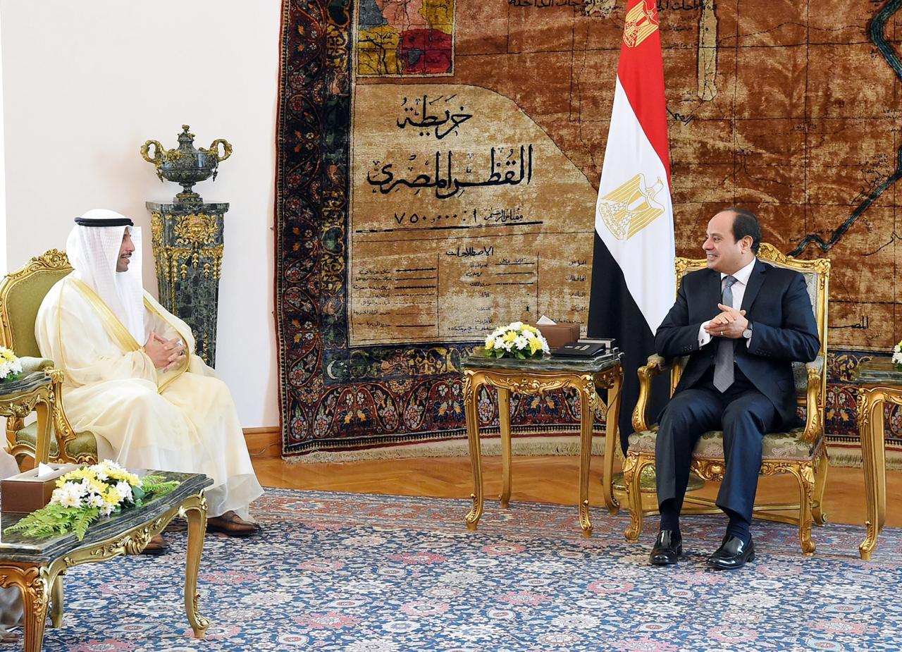 الرئيس السيسي يؤكد لـ رئيس مجلس الأمة الكويتي ارتباط أمن الخليج بالأمن القومي المصري