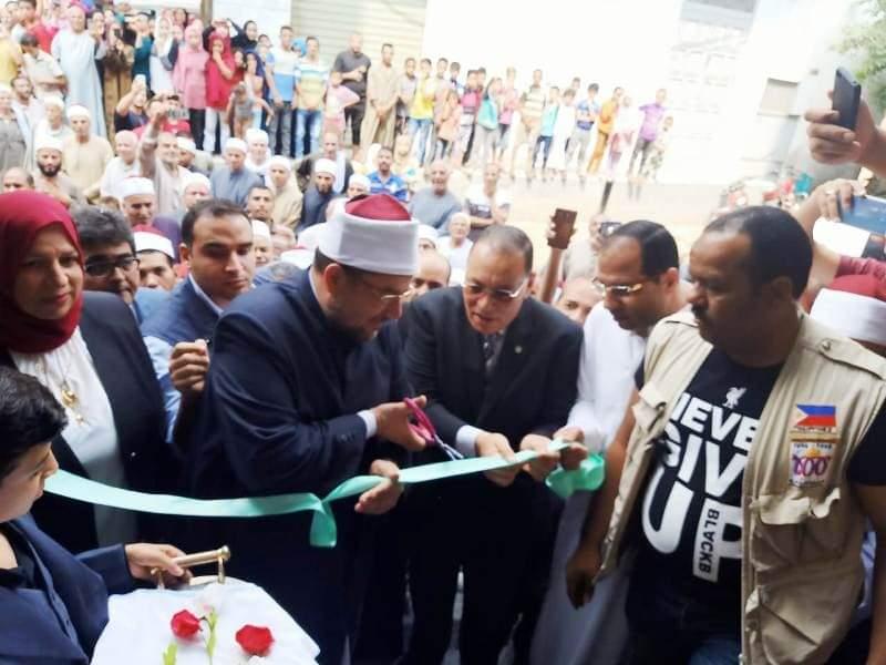صور| وزير الأوقاف ومحافظ الشرقية يفتتحان مسجد أبو عبيده بن الجراح بتكلفة 6 مليون جنيه