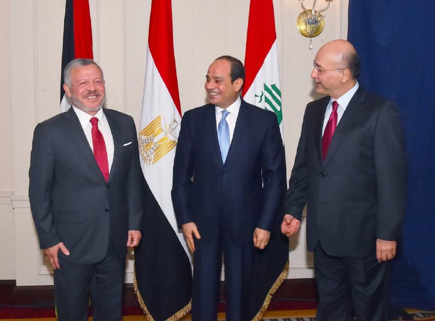 عاجل  ننشر بيان القمة الثلاثية التي تجمع الرئيس السيسي و العاهل الاردني و الرئيس العراقي