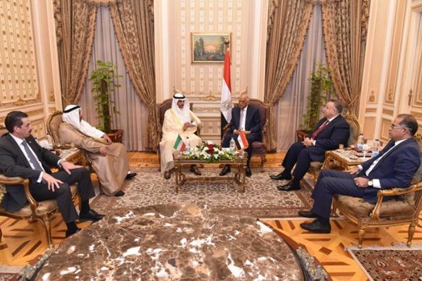 عبد العال يستقبل مرزوق الغانم2
