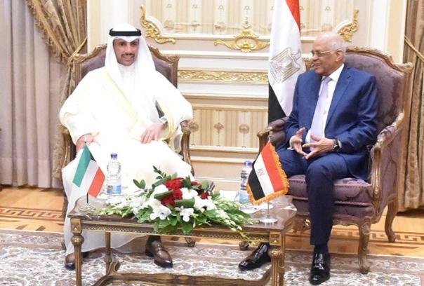 عبد العال يستقبل مرزوق الغانم4