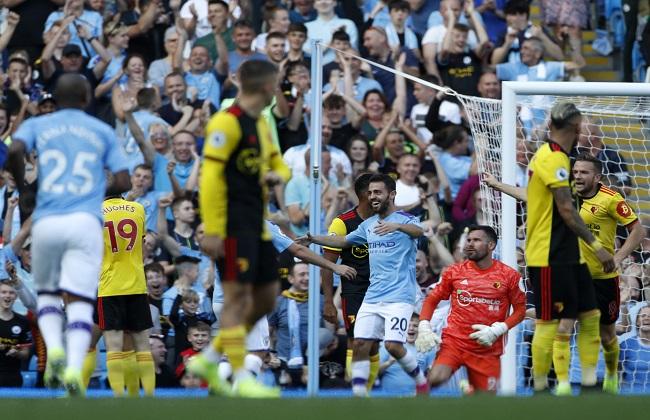 مانشستر سيتي يفوز على واتفرود بثمانية أهداف دون رد بالدوري الإنجليزي