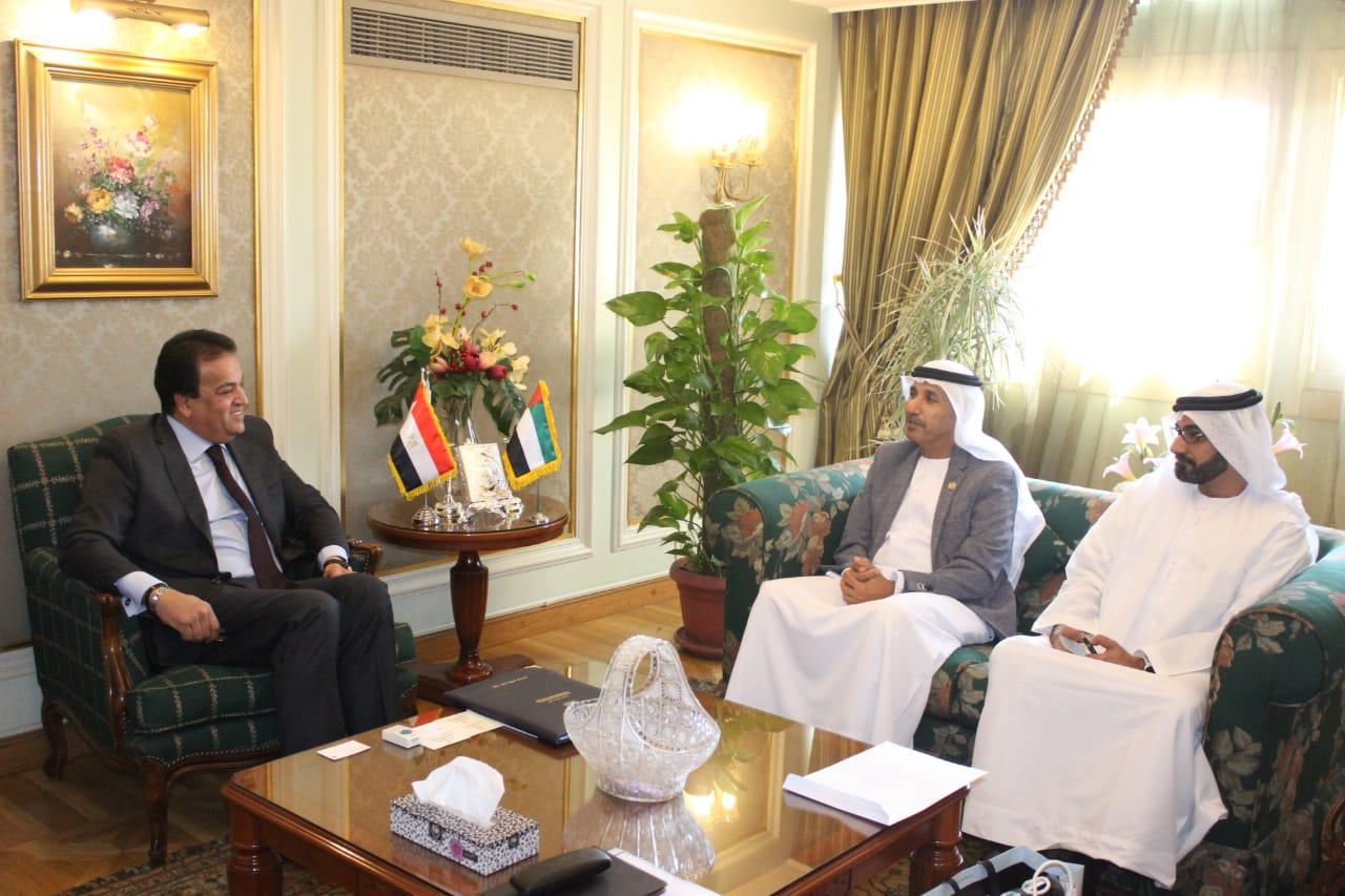 وزير التعليم العالي يبحث آليات التعاون في مجال علوم الفضاء مع دولة الإمارات العربية