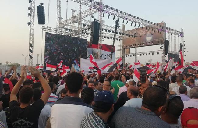 مظاهرات دعم الدولة المصرية تتصدر عناوين الصحف