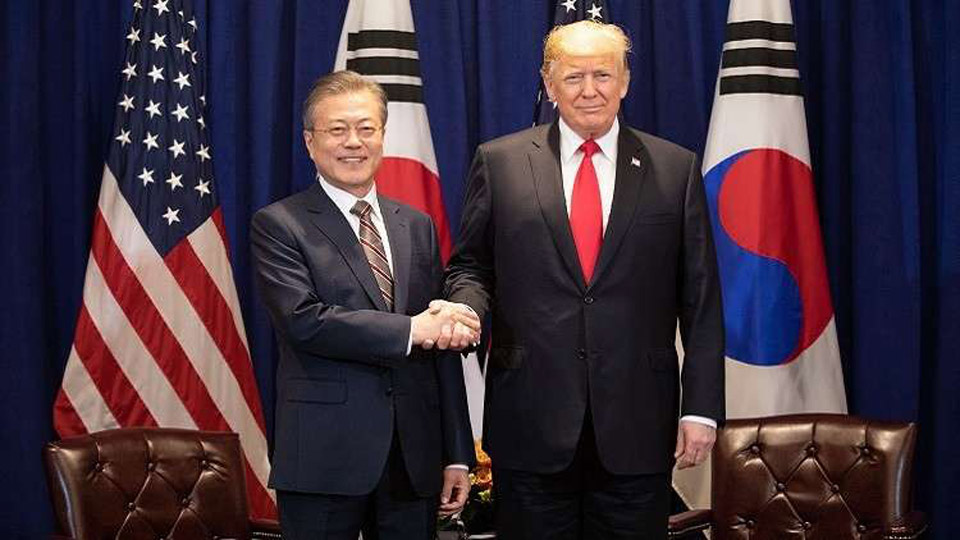 لقاء قمة بين رئيسي كوريا الجنوبية والولايات المتحدة الأسبوع المقبل
