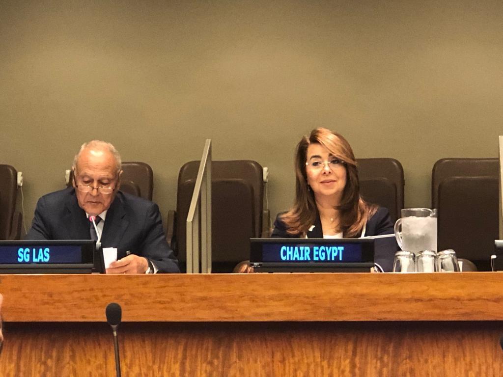 صور | وزيرة التضامن تلقى كلمة فى حفل إطلاق استراتيجية القضاء على الفقر بالأمم المتحدة