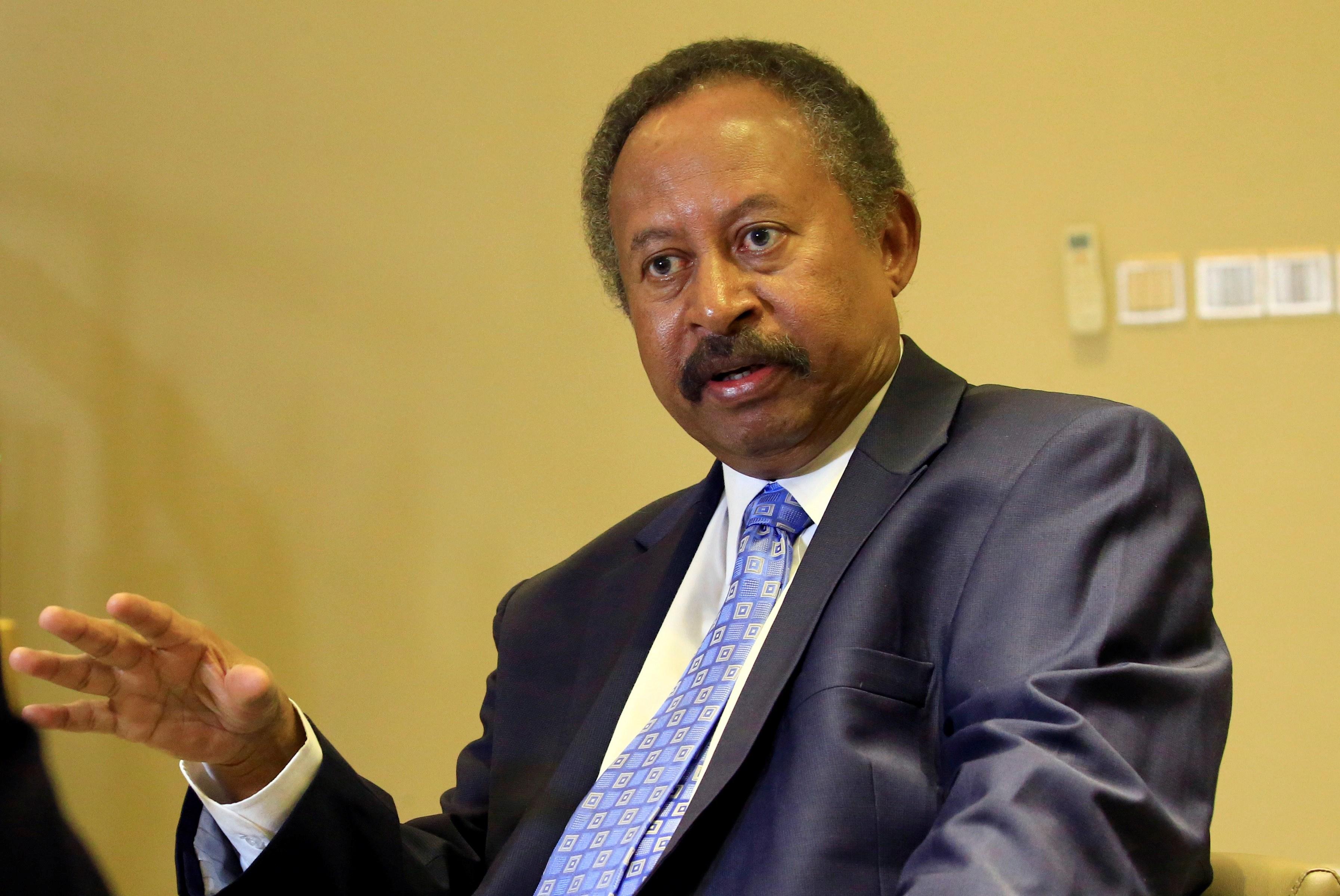«حمدوك» يؤكد رغبة السودان الجادة فى تطبيع العلاقات مع أمريكا