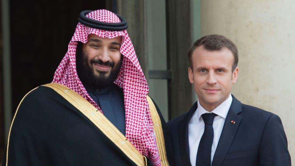ولي العهد السعودي والرئيس الفرنسي يبحثان هاتفيا أمن واستقرار المنطقة